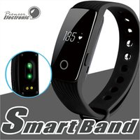 Wholesale calories heart rate - ID107 Smart Bracelet band Fitness Tracker Activity Heart Rate Monitor Health Wristband Bluetooth Pedometer Calorie Counter for Android iOS