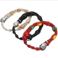 Wholesale Wholesale Bead Strap Bracelets - Wristand Matel Connections Bracelet Bead Decor Hands Chain Hand Made Bangle Rope Winding Wrist Strap Business Gifts Top Quality 5 5kd D