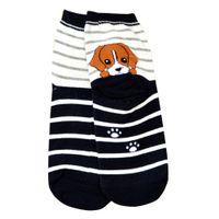 dessins animés husky achat en gros de-Gros-nouveaux animaux de bande dessinée chaussettes femmes impression 3D chiens chiot décontracté Meias Retriever Schnauzer Husky Bulldog coton Skarpetki # OU