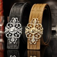 Wholesale Accesories Women Free Shipping - 2017 Famous Brand Smooth Buckle 100% Leather Belts For Mens Popular Style Trousers Accesories Colorful Wholesale Free Ship