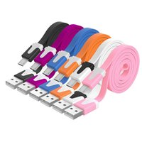 Wholesale 1m m m Android Noodles Micro USB Sync Data Charging Charger Cable Cord For Andriod Phone off promotion for