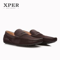 Wholesale Leather Casual Moccasins - 2016 XPER Mens Loafers Flats Moccasins Men Luxury Shoes Breathable Slip-on Charm Buisness Casual Shoes Brown CE86810BN