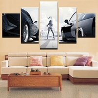 Wholesale Fast Oil Painting - Canvas Painting Home Decor For Living Room Canvas Art Printed 5 Piece Fast And Furious Movie Characters On Canvas Wall Picture