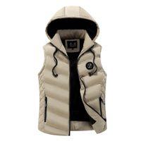 Wholesale Casaco Inverno Masculino - Colete de algodão para inverno, colete com capuz casual fino masculino Thick 2017, casaco tamanho grande moda masculino