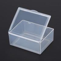 Wholesale Wholesale Makeup Storage Accessories - (Internal size 5.3*4*1.9CM) Jewelry Clear Storage Case Box Craft Makeup Cosmetic Accessory Beads Candy Organizer Organizador Container