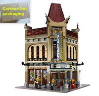 Wholesale Toy City Buildings - 2354pcs LEPIN 15006 City Street Series Palace Cinema Model Building Blocks Set Bricks Toys Compatible 10232 Toys For Children