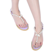 Wholesale Open Element - PP FASHION Summer Element Women's Pearl Bowknot Flat Thong Sandal