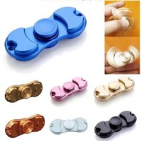 Wholesale Ceramic Toy Set - 2017 Pure Brass Copper Fidget Spinner Hand Spinners Torqbar Style Ceramic Bearing Crazy EDC Finger Tip Rotation HandSpinner anxiety Toys Fre