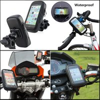Wholesale Gps Case Bike - Motorcycle Bicycle Phone Holder Mobile Phone Stand Support for iPhone 5 5S 5C 4S 6 Plus GPS Bike Holder with Waterproof Case Bag