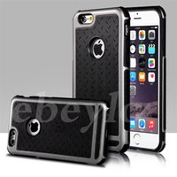Wholesale Thin Shell - Ultra Thin Shockproof Rubber PC Gel TPU Hybrid Case Cover For Apple iPhone 5S SE 6 6S 6 Plus Luxury Armor Cases Shell