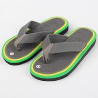 Wholesale Wholesale Fashion Plus Size Shoes - Wholesale-Hot Sell Men's Flip Flops EVA Slippers Summer Fashion Beach Sandals Shoes For Men Plus Size Euro 40-44 Grey Beige
