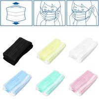 Wholesale Disposable Masks - High Quality 3 Layer Non-woven Fabric Mouth Face Masks Disposable Respirator Health Anti Dust Mask Dental Disposable Medical Dust