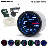 "Wholesale Gauges Psi - 2"" 52mm 7 Color LED Smoke Face Car Auto PSI Turbo Boost Gauge Meter With Sensor and Holder AD-GA52BOOSTPSI"