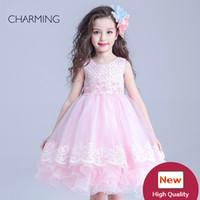 красивые розовые свадебные платья оптовых-цветочница платье девушки S Принцесса свадебное платье красивая цветочница платья розовый цвет высокое качество пачка цветочница платья