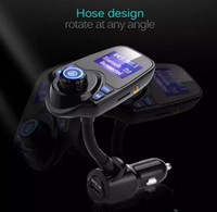 Wholesale Car Kit For Mobile Phone - T10 Car MP3 Audio Player Bluetooth FM Transmitter Wireless Modulator Car Kit HandsFree LCD Display USB Charger for IPHONE Mobile