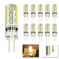 Wholesale Led Lamp G4 6w - Hot Sales SMD3014 G4 3W 4W 5W 6W LED Corn Crystal lamp light DC12V  AC 110V 220V LED Bulb Chandelier 24LED 32LED 48LED 64LEDs Crystal lamp