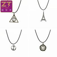 Wholesale Necklaces Paris Tower - Hot new Chokers Necklaces retro Eiffel Tower in Paris anchor peace triangle pendant necklace for Women 2016 Jewelry Bijoux