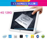 ips artı toptan satış-Toptan-Orijinal Küp Mix artı 2 in 1 Tablet PC 10.6 '' IPS 1920x1080 Windows 10 Intel Kabylake 7Y30 Çift Çekirdekli 4GB / 128GB Kamera Tipi C