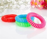 Wholesale Repellent Band Bracelets Anti Mosquito - Hot Sale Mosquito Repellent Bracelet Stretchable Elastic Coil Spiral hand Wrist Band telephone Ring Chain Anti-mosquito bracelet