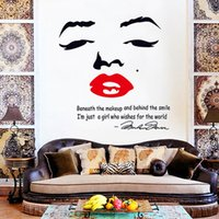 Wholesale Wall Cling Decoration - Marilyn Monroe Wallpaper Wall Art Fashion Style Word PVC Wall Sticker Material for Bedroom Decoration Waterproof Wall Clings