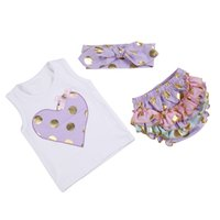 Wholesale Hot Marketing - hot selling Childrens Boutique Clothing Baby Toddler Bloomer And Shirt, Toddler Clothes 3 Pieces Set Summer Yiwu Market With Factory Price
