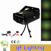 Wholesale Laser Shows Equipment - Wholesale- Mini Laser Projector DMX LED Stage Lighting Professional DJ Equipment Strobe Dance Disco Light Home Party Show Lights