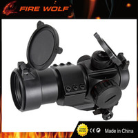 Wholesale Moa Rifle Scopes - FIRE WOLF Tactical 4 MOA Red Green Dot laser Airsoft Illuminated M3 RifleScope Reflex Stinger Dot Sight PEPR 20mm
