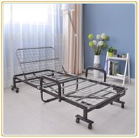 Wholesale Twin Wheels - Deluxe Metal Rollaway Folding Bed Twin Size Guest Bed with Wheels Manuel Positon Adjusting SR-F01B NEW