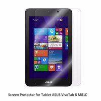 Wholesale touch screen tablets asus - Wholesale- Clear LCD PET Film Anti-Scratch  Anti-Bubble   Touch Responsive Screen Protector for Tablet ASUS VivoTab 8 M81C