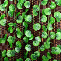 planta guirnalda al por mayor-Al por mayor-2016 Nueva Begonia Artificial Vine Leaf Fake Garland Plants Vine Fake Follaje Flores Home Wedding Decor 7.5 pies 1 UNID