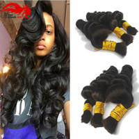 Hannah product Compre 3bundles 150gram Brazilian Hair Bulk For Braiding Human No Weft Brazilian Hair Micro Mini Braiding Bulk Hair