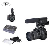 Wholesale Stereo Microphone For Camcorder - DV Stereo Recording Photography Interview Video Camcorder Handheld Camera Shotgun Microphone Conference Mic For Nikon Canon DSLR