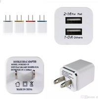 Wholesale lg nexus dock - Dual USB 2.1A AC Power Adapter Wall Charger US Plug for mobile phone samsung galaxy note NEXUS tablet ipad