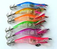 10Pcs Night Fishing Lures Led Shrimp Squid Jigs Artificial Luminous Bait Fishing Tackle 12G 10.5Cm 6Colors