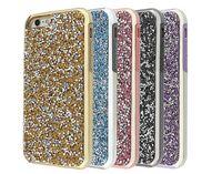Wholesale Diamond Chrome Iphone Luxury - 2 in 1 Luxury diamond rhinestone glitter case bling PC back chrome stones cover cases For iphone X 8 7 5 6 6s plus samsung s8 note8