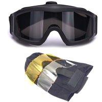 airsoft schutzbrillenlinse großhandel-Outdoor Sports Brille Jagd Schießen Schutz Gang Airsoft Brille Radfahren Sonnenbrille Taktische PC Objektiv Schießbrille