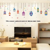 Wholesale Arab Wall Stickers - New Removable The Arab lights colorful DIY modern home living room window decorative wall sticker decor self adhesive wall decal 60x90cm pc