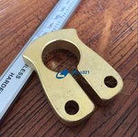 taktische selbstverteidigung ring großhandel-EDC Handmade Solid Messing Tiger Finger Schlüsselanhänger Ring Tactical Outdoor Selbstverteidigung überleben Erste Hilfe zerbrochenes Fenster Werkzeug