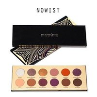 Wholesale Glowing Colour - Newest Coloured Raine Queen 12 Color Shimmer Nature Glow Eyeshadow Palette Portable Cosmetics Nude EyeShadow powder Waterproof Makeup Set