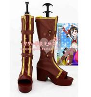 Wholesale Half Live - Wholesale- Love Live Kousaka Honoka Hoshizora Rin Dancing Stars on Me Tojo Nozomi Minami Kotori lolita Cosplay boots shoes