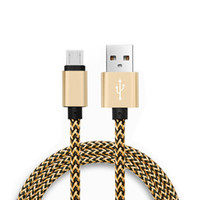 Wholesale Iphone Cable Colorful - Mirco USB Cable Colorful Braided charging for Samsung Galaxy s8 plus s7 edge Type C lightning cables Data Sync for huawei android xiaomi
