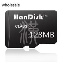 cartões sd de 128 mb venda por atacado-HanDisk Small Capacity Class4 128MB Cartão Micro SD Preto grossista Cartão de Memória Qualidade SDXC CE Cartão FCC de certificação FCC (NÃO GB)