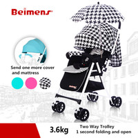 Wholesale Two Fold Umbrella - 3.6kg baby stroller ultra-light bb car two-way folding umbrella car baby send 9 big gifts free five color aluminum bab carraige