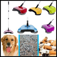 Wholesale Super Cordless Swivel Brush Smart Floor Cleaner Rotating Hand Push Dual Sweeper Manual Dust Cleaner in1 Dustpan Broom Mop CCA6348