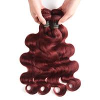 perulu dalga saç uzantıları toptan satış-Hint Perulu Malezya Brezilyalı Virgin İnsan Saç Paketler Vücut Dalga Saç Örgüleri İnsan Saç Uzantıları Saf Renk # 2 # 27 # 30 # 99J