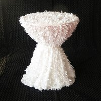 """Wholesale Wedding Overlay Cloths Wholesale - 10PCS Free Shipping 85"""" 90"""" 96'' 110'' 120'' 130'' Square Leaf Overlay Petal Table Cloth For Wedding Decoration"""