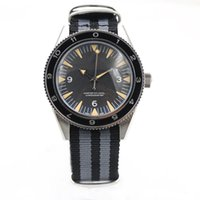 Wholesale Multicolor Sapphire - New Stylish Automatic Sea 300 Spectre Limited Edition Men's Wristwatch Fabric Belt Glass Back Chronometer James Bond Spectre Male Watch