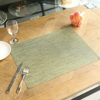Wholesale Woven Table Mats - Factory sales large diamond meal pad, PVC meal pad wholesale, woven table mat pad insulation, wash quick dry