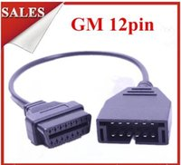Wholesale Gm Obd1 Connector - GM 12pin to 16pin OBD1 OBD2 GM 12 PIN 16PIN For GM 12PIN OBD Cable Diagnostic