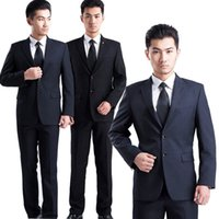 Wholesale Office Manager - Wholesale- 2017 Fashion Men Slim Fit Formal Blazer Suit Working Office Manager Interview Business Wearing Blazers Set JL